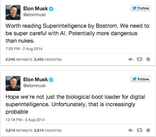 Musk vertrouwt artificiële intelligentie niet